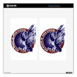 Medallion Blue w Red Trim.jpg Decals For Kindle Fire