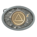 Medallion Coin Recovery Belt Buckle Granite
