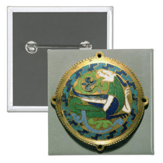 Medallion depicting a dragon, French, from Conques 2 Inch Square Button