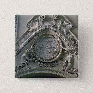 Medallion depicting Emperor Constantine Button