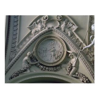 Medallion depicting Emperor Constantine Postcard