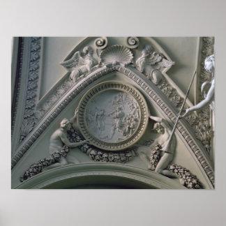 Medallion depicting Emperor Constantine Poster