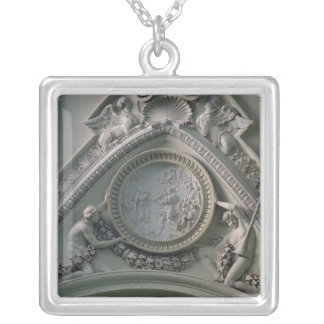 Medallion depicting Emperor Constantine Silver Plated Necklace