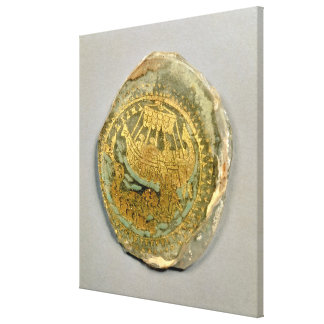 Medallion depicting Jonah and the whale, Roman, 4t Canvas Print