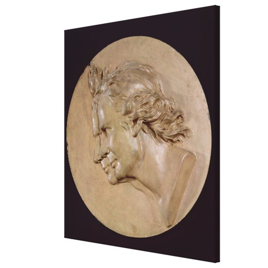 Medallion depicting Joseph  and Etienne Canvas Print