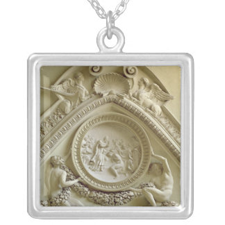 Medallion depicting the Baptism of Constantine Silver Plated Necklace