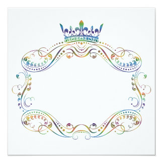 Medallion Frame with Crown Invitation
