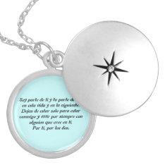 Medallion - I Am Part Of You Locket Necklace at Zazzle