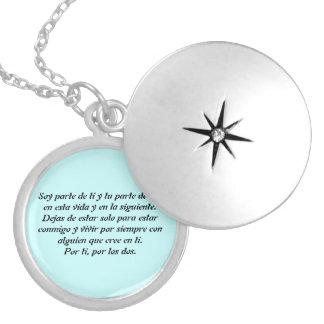 Medallion - I am part of you Round Locket Necklace