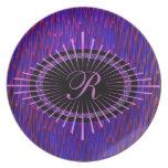 Medallion monogram plate template