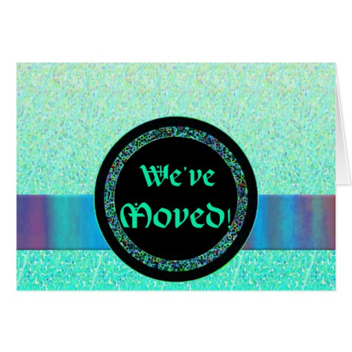 Medallion Moving announcement template Stationery Note Card