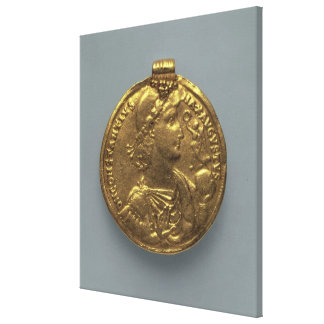 Medallion of Constantius II, minted at Antioch Canvas Print