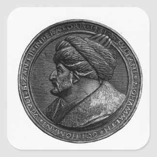 Medallion of Mehmed II Square Sticker