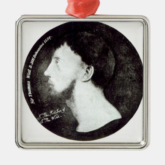 Medallion portrait metal ornament