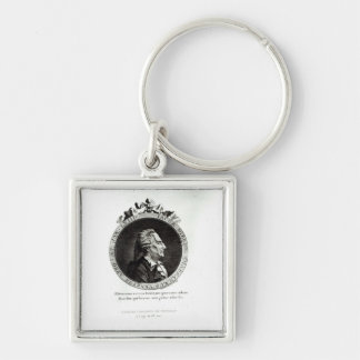 Medallion Portrait of Giacomo Casanova, age 63 Keychain
