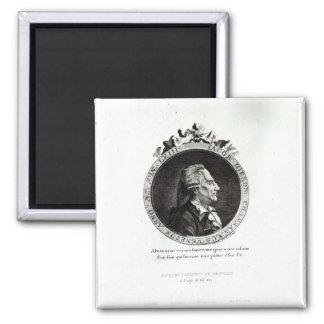 Medallion Portrait of Giacomo Casanova, age 63 Magnet