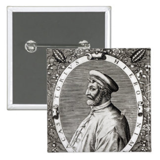 Medallion portrait of Girolamo Fracastoro Pinback Button