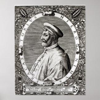 Medallion portrait of Girolamo Fracastoro Poster