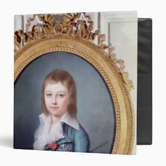 Medallion Portrait of Louis-Charles 3 Ring Binder