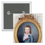Medallion Portrait of Louis-Charles 2 Inch Square Button