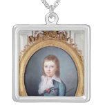 Medallion Portrait of Louis-Charles Square Pendant Necklace