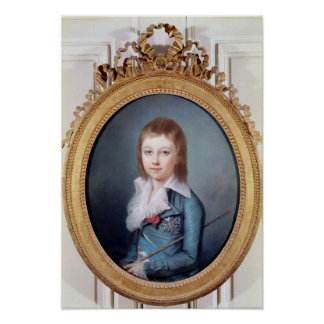 Medallion Portrait of Louis-Charles Poster