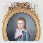 Medallion Portrait of Louis-Charles Square Sticker