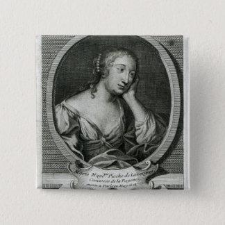 Medallion portrait of Madame de La Fayette Pinback Button