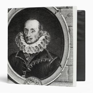 Medallion portrait of Pierre de Bourdeille 3 Ring Binder