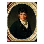 medallion Portrait of the Comte Esteve, 1804 Postcard