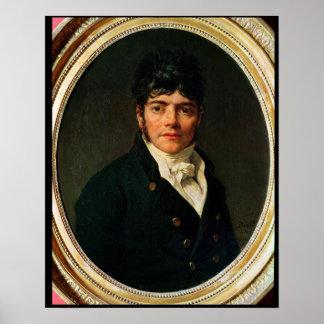 medallion Portrait of the Comte Esteve, 1804 Poster