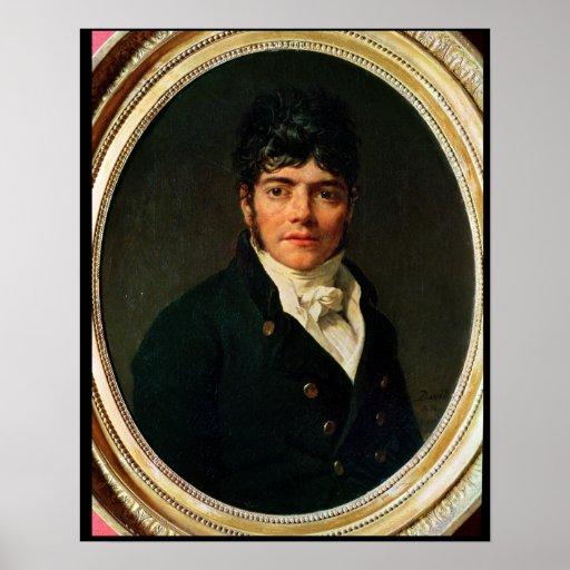medallion Portrait of the Comte Esteve, 1804 Posters