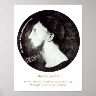 Medallion portrait poster