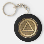 Medallion Recovery Sobriety Sober AA Keychain