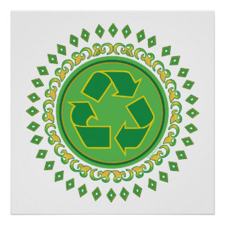 Medallion Recycle Sign Poster
