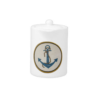 Medallion Round Dotted Anchor Mosaic