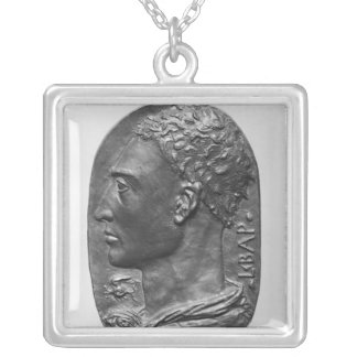 Medallion Self Portrait Silver Plated Necklace