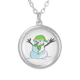 medallion snowman pendant