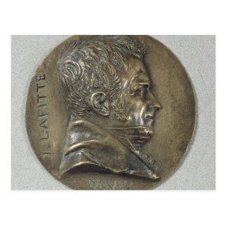 Medallion with a portrait of Jacques Lafitte Postcard