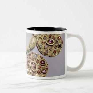 Medallions from 'Barmy Collar' Two-Tone Coffee Mug
