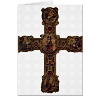 Medallions Of The Cross-Arms By Master Of Cross Greeting Card