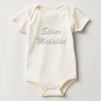 Medallista de plata body para bebé