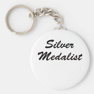 Medallista de plata llavero redondo tipo pin