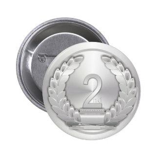 Medallista de plata pin redondo de 2 pulgadas