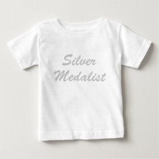 Medallista de plata playera de bebé