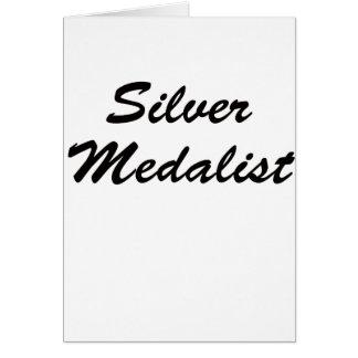 Medallista de plata tarjeta de felicitación