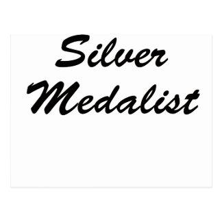 Medallista de plata tarjeta postal