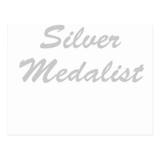 Medallista de plata tarjetas postales
