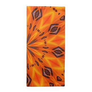 Medallón anaranjado del lirio servilleta de papel