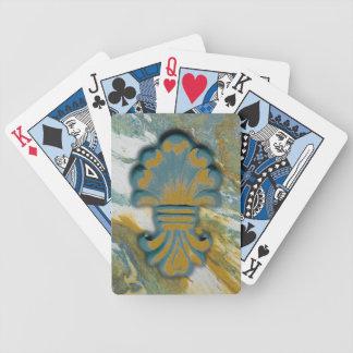 Medallón azul del océano baraja de cartas